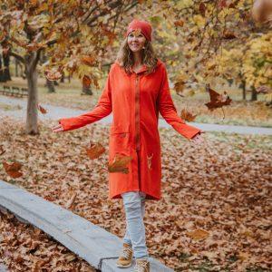 Mikina Olívia tehlovo-červená