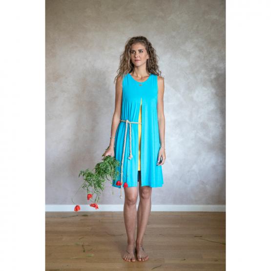 Letný komplet šaty s otvorom